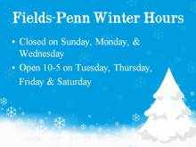 Fields-Penn Winter Schedule