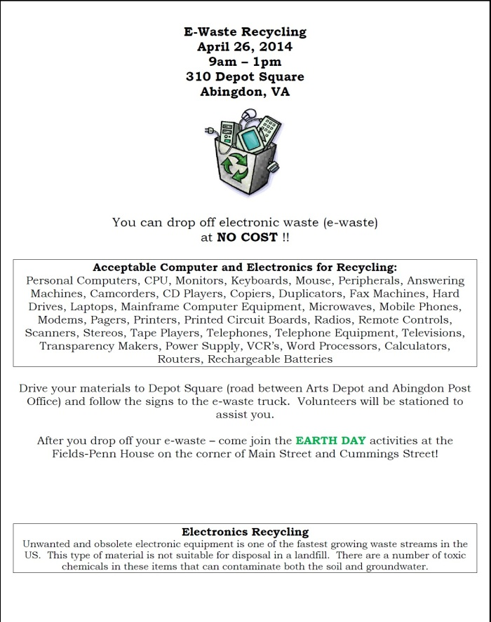 E-Waste Flyer 2014