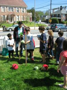 "Children playing ""Angry Birds"" at Earth Day Celebration 2014"