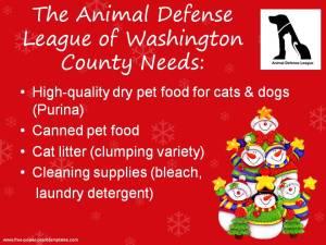 Animal Defense League Needs